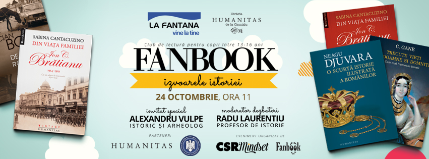 """Clubul de lectura Fanbook reuneste copiii in jurul cartilor de istorie sub tema """"Izvoarele istoriei"""""""
