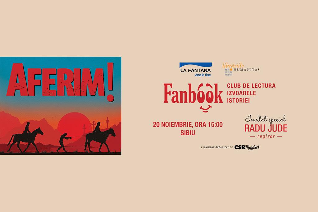"""Regizorul Radu Jude în dialog cu liceenii din Sibiu despre filmul """"Aferim!"""", la clubul de lectură Fanbook Izvoarele istoriei"""