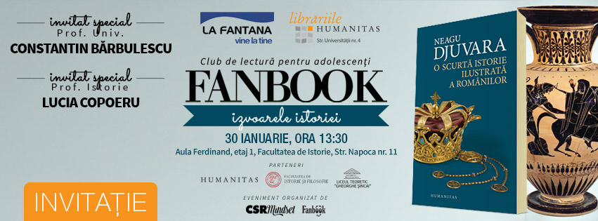 """Clubul de lectura pentru copii si adolescenti  """"Fanbook – Izvoarele istoriei"""" propune adolescentilor din Cluj un nou model de invatare"""